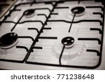 gas stove for 4 burners  top... | Shutterstock . vector #771238648