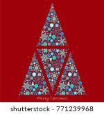 christmas background with...   Shutterstock .eps vector #771239968