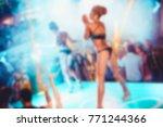 blurry night club dj party... | Shutterstock . vector #771244366