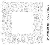 kindergarten nursery preschool...   Shutterstock .eps vector #771244678