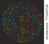 kindergarten nursery preschool... | Shutterstock .eps vector #771244726