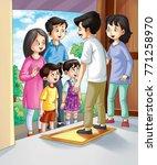 illustration of family | Shutterstock . vector #771258970