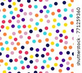memphis style polka dots... | Shutterstock .eps vector #771259360