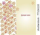 floral background vector... | Shutterstock .eps vector #77126110