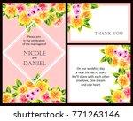 vintage delicate invitation...   Shutterstock .eps vector #771263146
