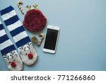 flat lay of christmas craft and ... | Shutterstock . vector #771266860