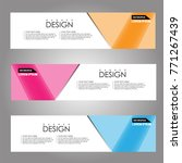 vector design banner background.... | Shutterstock .eps vector #771267439