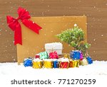 christmas  gift  with   and... | Shutterstock . vector #771270259