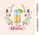 viva mexico colorful poster... | Shutterstock .eps vector #771283420
