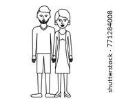 couple monochrome silhouette... | Shutterstock .eps vector #771284008