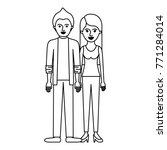 couple monochrome silhouette... | Shutterstock .eps vector #771284014