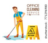 office cleaning service vector. ... | Shutterstock .eps vector #771296980