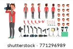 photographer vector. taking... | Shutterstock .eps vector #771296989