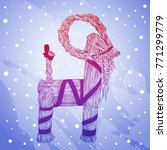 vector hand drawn yule goat or... | Shutterstock .eps vector #771299779
