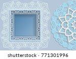 template for design    square... | Shutterstock .eps vector #771301996