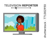 tv correspondent. journalist... | Shutterstock . vector #771302950