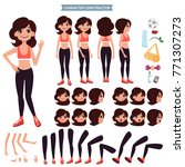 front  side  back view animated ...   Shutterstock .eps vector #771307273