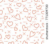cute seamless pattern with... | Shutterstock .eps vector #771309730