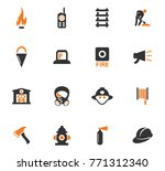 fire brigade vector icons for... | Shutterstock .eps vector #771312340