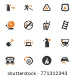 fire brigade vector icons for... | Shutterstock .eps vector #771312343