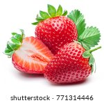 Three strawberries with...