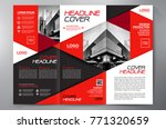 business brochure. flyer design.... | Shutterstock .eps vector #771320659