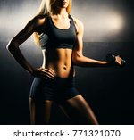 fit body of beautiful  healthy... | Shutterstock . vector #771321070
