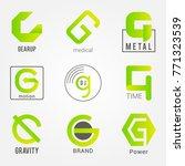 g letter vector logos design set | Shutterstock .eps vector #771323539