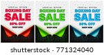 boxing day sale poster or... | Shutterstock .eps vector #771324040