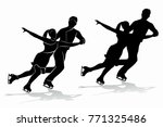 isolated silhouette of figure... | Shutterstock .eps vector #771325486