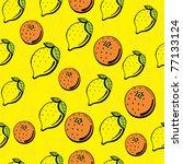 fruit seamless pattern | Shutterstock .eps vector #77133124