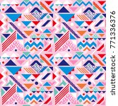 seamless abstract pattern with... | Shutterstock .eps vector #771336376