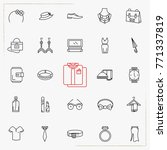 fashion line icons set | Shutterstock .eps vector #771337819