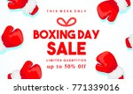 boxing day sale vector...   Shutterstock .eps vector #771339016