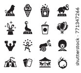 circus icons collection set | Shutterstock .eps vector #771347266