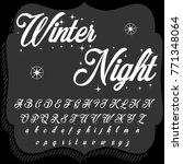 handcrafted vector script... | Shutterstock .eps vector #771348064