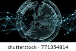 connections system sphere... | Shutterstock . vector #771354814