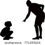 father warning the son ... | Shutterstock .eps vector #771355024