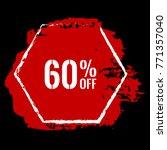 60  off sale discount banner.... | Shutterstock .eps vector #771357040