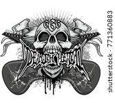 music  heavy metal coat of... | Shutterstock .eps vector #771360883