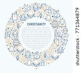 christianity concept in circle... | Shutterstock .eps vector #771364879