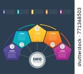 web template of a chart ... | Shutterstock .eps vector #771368503