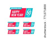 happy new year   off offer... | Shutterstock .eps vector #771371800