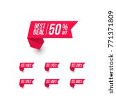 best deal shopping price tag | Shutterstock .eps vector #771371809