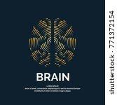 vector logo brain color... | Shutterstock .eps vector #771372154