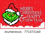 christmas card with... | Shutterstock .eps vector #771372160