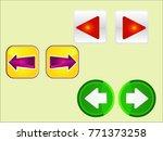 next back vector buttons  | Shutterstock .eps vector #771373258