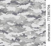 digital camouflage pattern ... | Shutterstock .eps vector #771381706