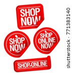 shop now buttons  online store... | Shutterstock .eps vector #771383140