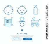 baby care concept with thin...   Shutterstock .eps vector #771388504